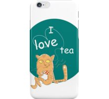 I love tea. iPhone Case/Skin