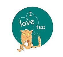 I love tea. Photographic Print