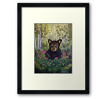 Whimsical Bear Cub Framed Print