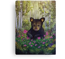 Whimsical Bear Cub Canvas Print