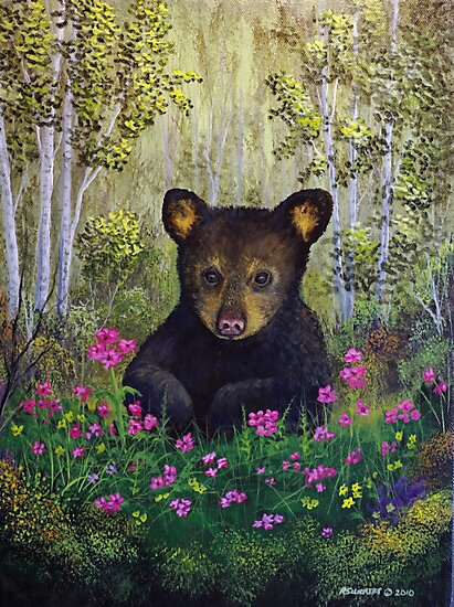 Whimsical Bear Cub by Rich Summers