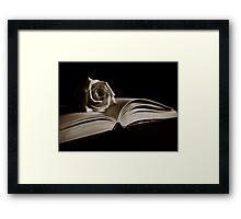Literary Rose Framed Print