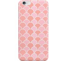 Girly pink coral modern scallop pattern iPhone Case/Skin