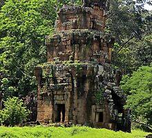 Khmer Ruin in the nature - Angkor, Cambodia. by Tiffany Lenoir