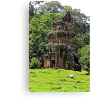 Khmer Ruin in the nature - Angkor, Cambodia. Canvas Print