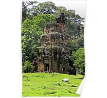 Khmer Ruin in the nature - Angkor, Cambodia. Poster