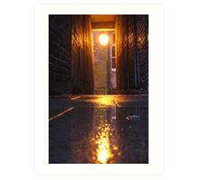 Lamplit Alleyway Art Print