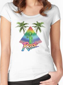 Rad Alien T-Shirt Women's Fitted Scoop T-Shirt