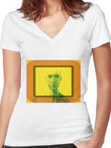 Robot Women's Fitted V-Neck T-Shirt