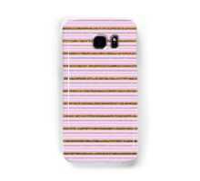 Vintage girly pink gold faux glitter stripes Samsung Galaxy Case/Skin