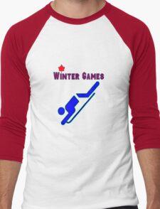 Bobsledding Men's Baseball ¾ T-Shirt