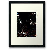 City Nights Framed Print