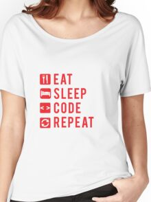 Eat Sleep Code Repeat  Women's Relaxed Fit T-Shirt