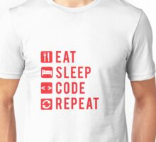 Eat Sleep Code Repeat  Unisex T-Shirt