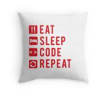 Eat Sleep Code Repeat  Throw Pillow