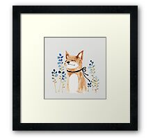 Fox and Flower Framed Print