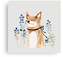 Fox and Flower Canvas Print