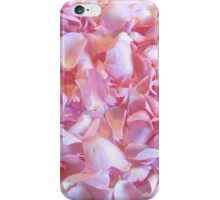 Girly pink chic cute rose petals floral pattern iPhone Case/Skin