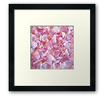 Girly pink chic cute rose petals floral pattern Framed Print