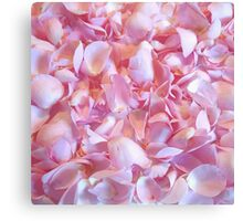 Girly pink chic cute rose petals floral pattern Canvas Print