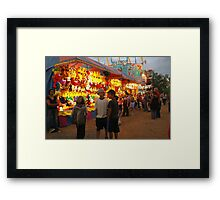 Side show booths Framed Print