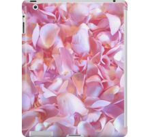 Girly pink chic cute rose petals floral pattern iPad Case/Skin