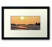 SUNSET   FISHING  Framed Print