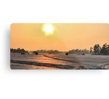 SUNSET   FISHING  Metal Print