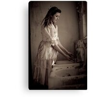 Ghost Girl in the Bathroom Canvas Print
