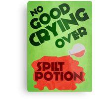 No Good Crying Over Spilt Potion Metal Print