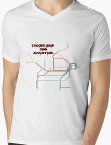 shitty-rail map Mens V-Neck T-Shirt