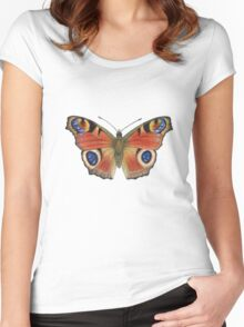 Peacock Butterfly (Inachis io) Women's Fitted Scoop T-Shirt