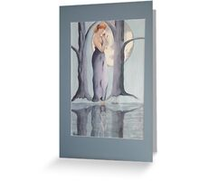 Moody Blue Greeting Card