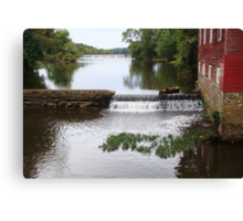 Millstone River and Mill Canvas Print
