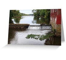 Millstone River and Mill Greeting Card