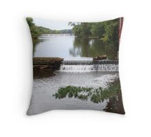 Millstone River and Mill Throw Pillow