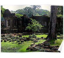 The Ruins of Baphuon - Angkor, Cambodia. Poster