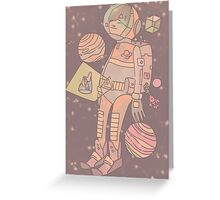 Space man. Greeting Card