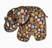 Patchwork Elephant Kids Clothes