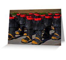 Fireman Boots Greeting Card