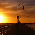 St Kilda Pier Sunset by charlienelson
