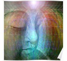 Rainbow buddha Poster