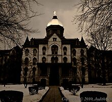 Notre Dame Main Building by Judy Seltenright