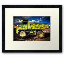 Really Really Green Truck Framed Print