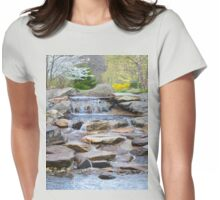 Garden Water Falls Womens Fitted T-Shirt