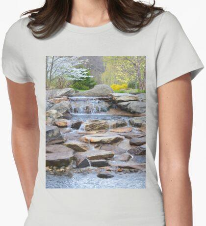 Garden Water Falls Womens Fitted T-Shirt