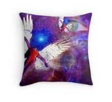 Angel in the skies Throw Pillow