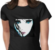 Manga Girl Womens Fitted T-Shirt