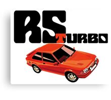 RS Turbo Ford Escort Classic Car Canvas Print