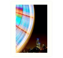 Sky wheel - melbourne Art Print